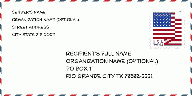 Zip Code 5 78582 Rio Grande City Tx Texas United States Zip